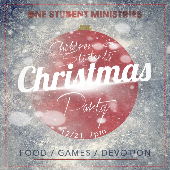 Children & Youth Christmas Party – Euto Baptist